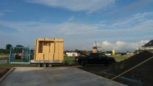 Houtskelet bouw woning familie groot Oud-dorp  Robert Bruijn verreiker verhuur