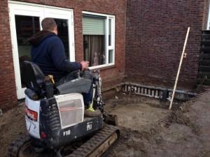 Aanbouw uitgraven Den Helder  Robert Bruijn verreiker verhuur